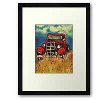 Uncle John's Truck Red Old Farm Ranch Grandpa Farming Ranching Work Working Field Old Red  Framed Print