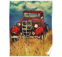 """Uncle John""""s Truck Red Old Farm Ranch  Poster"""