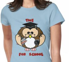 Time for school Womens Fitted T-Shirt