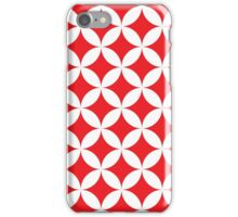 Modern,red,white,trellis,diamond,pattern,contemporary,trendy iPhone Case/Skin