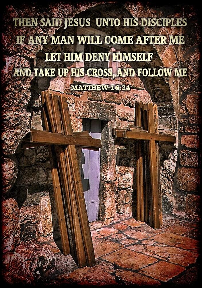TAKE UP HIS CROSS MATTHEW 16:24 BIBLICAL PICTURE/CARD by ✿✿ Bonita ✿✿ ђєℓℓσ