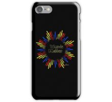 Words Matter primary colors iPhone Case/Skin
