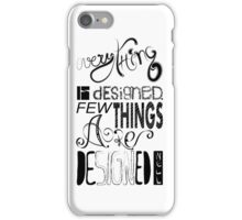Black & White iPhone Case/Skin