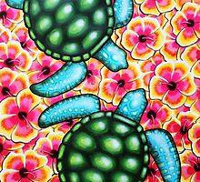 Hibiscus Sea by Laural Retz Studio