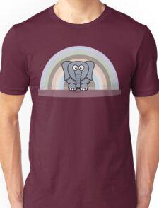 Cool Funny Cartoon Elephant Rainbow Cute Design Unisex T-Shirt