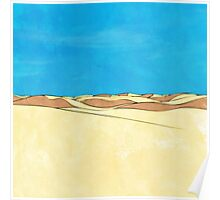 Cartoon sand dunes Poster