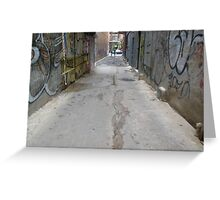 Exit the Alleyway Greeting Card