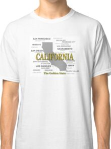 California State Pride Map Silhouette  Classic T-Shirt