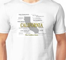 California State Pride Map Silhouette  Unisex T-Shirt