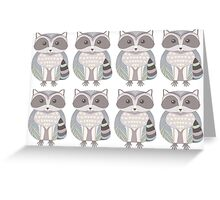 8 Raccoons Greeting Card