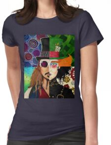 Johnny Depp Character Collage Womens Fitted T-Shirt