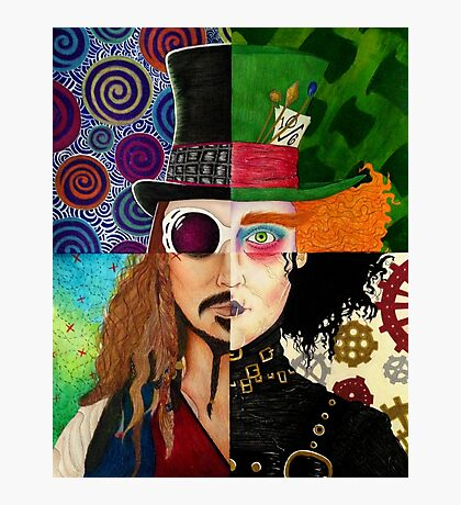 Johnny Depp Character Collage Photographic Print