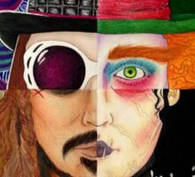 Johnny Depp Character Collage Sticker