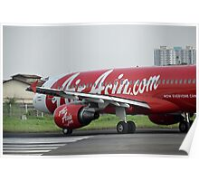 Air Asia airplane Poster