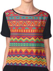 Aztec Pattern Chiffon Top
