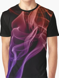 Smoke compositions in orange blue and pink Graphic T-Shirt