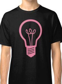 Pink Light Bulb Classic T-Shirt
