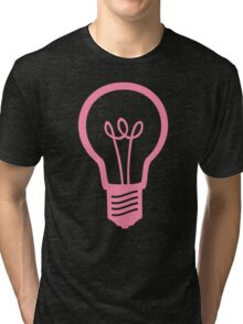 Pink Light Bulb Tri-blend T-Shirt