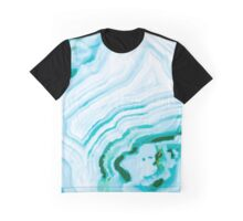 Blue Agate Abstract Graphic Graphic T-Shirt