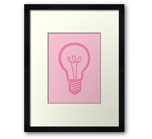 Pink Light Bulb Framed Print