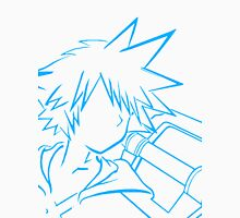 Sora/keyblade lineart light blue Unisex T-Shirt