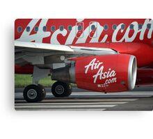 Air Asia airplane Canvas Print