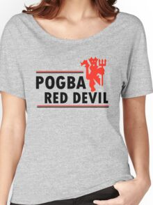 Paul Pogba - Red Devil Women's Relaxed Fit T-Shirt