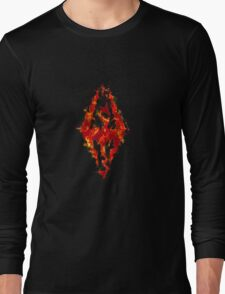 Fus ro dah - Fire Long Sleeve T-Shirt