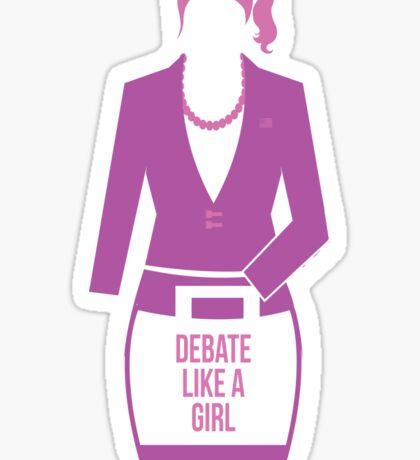 debate like a girl Sticker