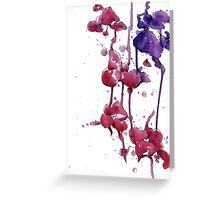 Dripping Orchids Greeting Card