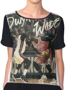 Dwyane Wade Miami to Chicago Basketball Artwork Chiffon Top