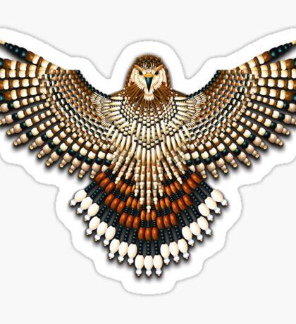 Beadwork Red-Tail Hawk Sticker