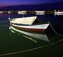 Fishing boat at Lefkada island by Hercules Milas