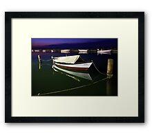 Fishing boat at Lefkada island Framed Print