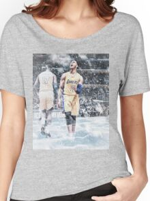 D'Angelo Russell Ice In My Veins Basketball Artwork Los Angeles Women's Relaxed Fit T-Shirt