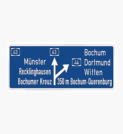Bundesautobahn  Photographic Print