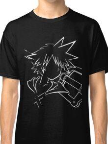 Sora/keyblade lineart white Classic T-Shirt