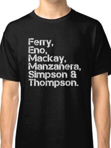 Roxy Music [line-up] Classic T-Shirt