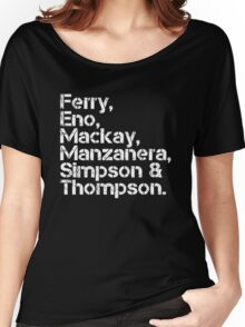 Roxy Music [line-up] Women's Relaxed Fit T-Shirt