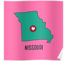 Missouri State Heart Poster