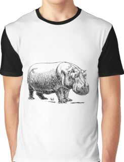 Hippopotamus Graphic T-Shirt