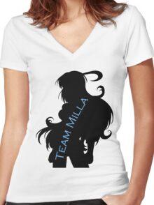 Team Milla 2 Women's Fitted V-Neck T-Shirt