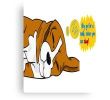 Sleeping dog Advice Canvas Print