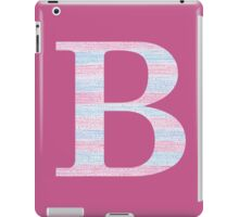 Letter B Blue And Pink Dots And Dashes Monogram Initial iPad Case/Skin
