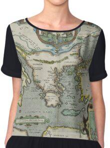 Vintage Map of The Mediterranean Sea (1608) Chiffon Top