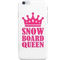Snowboard queen champion iPhone Case/Skin