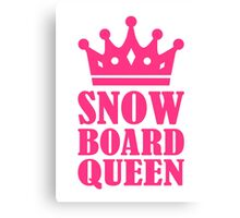 Snowboard queen champion Canvas Print