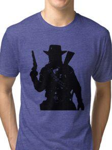 Cowboy Silhouette Tri-blend T-Shirt