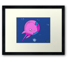 Unicorn Planet Framed Print