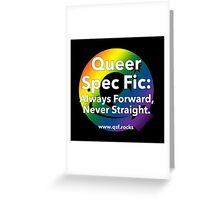 QSF Forward Logo - Black Greeting Card